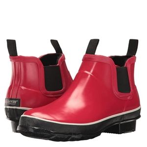 Baffin Pond Women's Red Ankle Boots Rubber